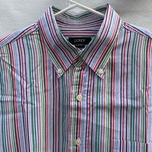 J.CREW Stripes Button down Multicolor Business L